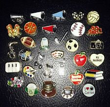 Floating Locket Charms * Teacher Gift * Coach * Sports * Fit Origami Owl *School