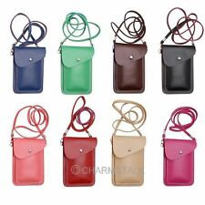 Multicolor Lady PU Leather Cellphone Case Pouch shoulder bag for Samsung Galaxy