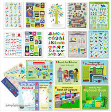 Arabic Alphabet and Islamic Educational Books Posters Games for toddlers kids