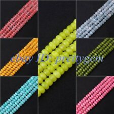 """5X8MM FACETED EXQUISITE RONDELLE CANDY JADE LOOSE GEMSTONE BEADS STRAND 15"""""""