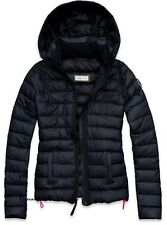 Abercrombie & Fitch Womens Jane Jacket Puffer Hoodie Navy XS S M L NWT