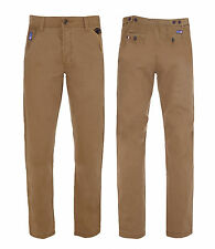 Santa Monica Mens New Stone Cotton Chinos Trousers Straight Leg Sizes 30-38