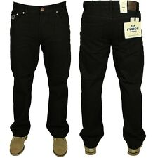 MENS BIG SIZE JEANS FORGE IN BLACK COLOUR ALL SIZES 30 TO 60 RRP £19.99