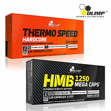 THERMO SPEED HARDCORE + HMB 60-180 Caps. Fat Burner Weight Loss Lean Mass Growth