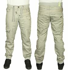 MENS BRAND NEW JEAN EM474 DESIGNER IN STONE CUFFED JOGGER ALL SIZES 28 TO 42