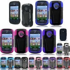 Double Layer Hybrid Rugged Stand Hard Soft Case For Samsung Galaxy Centura S738C