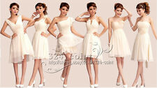 FZ030 New Pink Formal Evening Prom Party Dress Bridesmaid Dresses Ball Gown Gift