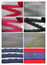 Beautiful Embroidered stretch lace 5/10/20/50 yards a variety of colors