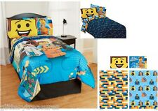 KIDS GIRLS BOYS LEGO MOVIE BEDDING BED IN A BAG / COMFORTER SET