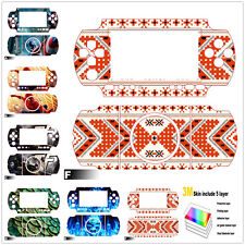 Slim 3M Vinyl Decal Skin With Air Guide Channel Sticker Cover For Sony PSP 3000