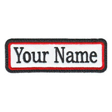RECTANGULAR 1 LINE CUSTOM EMBROIDERED NAME TAG  (A)