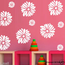 12 Daisy flowers removable wall / window stickers for home kids room or nursery