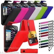 PU Leather Flip Case, Retractable Stylus Pen & SP fits Various Mobile Phones