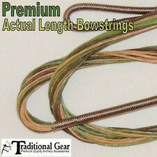 CAMO RECURVE BOWSTRING - ACTUAL LENGTH STRINGS 16 STRAND B-50 Archery Bow String