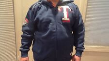NWT MLB Men's Texas Rangers Full-Zip Hooded Appliqued Sweatshirt