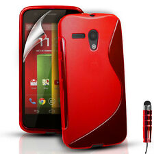 S-Line Silicone Gel Case Cover For Motorola Moto G 4G FREE Screen Protector