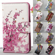 New Card Hold Stand Flip Leather Cases Cover For Samsung Galaxy iPhone Sony LG