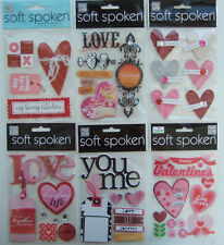 YOU CHOOSE! Soft Spoken ~VALENTINE'S DAY & LOVE THEMED~ embellishment stickers