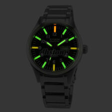 Swiss Tritium GOLD Japan Movement GLOW Mens Mechanical Watch Stainless Steel NEW