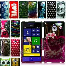 For HTC Tiara/8XT Rubberized Hard Case Cover Design Image Snap On 2 piece