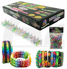 12000 RAINBOW LOOM BANDS KIDS FRIENDSHIP BRACELET RING BOX KIT RUBBER LATEX FUN