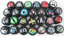 "1 PAIR ACRYLIC CHEATER PLUGS EAR LOBE 16g 1/4"" 10mm FAKE GAUGES"