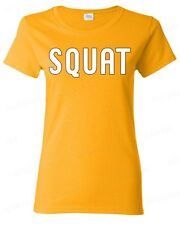 SQUAT workout WOMAN T-SHIRT gym shirt fitness collage gear training tee