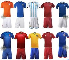 2014 Hot Kids Boys Soccer Football Star Jersey Shorts Youth Sizes Team Suit
