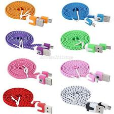 Braided Flat Micro to USB Sync Charger Cable 3Ft for Samsung Galaxy S4 S3 i9300