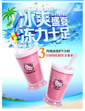 Hot New Zoku Slushy & Shake & Smoothie Maker Cute KT Cat Ice Cream Milkshake Cup