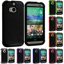 For HTC One 2 M8 Phone Hybrid Rugged Shockproof Matte Case Cover Accessory