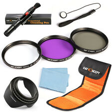 52 55 58 67 77mm UV FLD CPL Circular Polarizing Lens Filter Kit For Canon Nikon