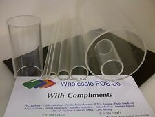 PERSPEX ACRYLIC CLEAR TUBE 1 METER LENGTHS 5MM – 130MM 1, 2 & 3MM WALL PMMA PIPE