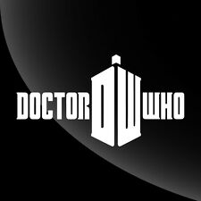 Dr Who Logo Decal Sticker - 7 SIZES - 15 COLOR OPTIONS