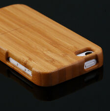 NEW Genuine Real Natural Wood Wooden Bamboo Hard Back Case Cover For iPhone 5C