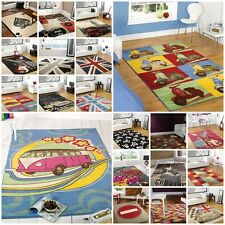Modern Contemporary Retro Funky Rug 16 Designs 3 Different Sizes
