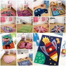 Modern Quality Kid Kiddy Children Boys Girls Rugs 16 Colours 4 Different Sizes