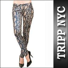 TRIPP SNAKE PRINT PYTHON  SKINNY JEANS DIFFERENT SIZES TO CHOOSE FROM