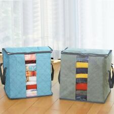 Practical Folding Bamboo Charcoal Clothes Sweater Blanket Closet Organizer Boxes