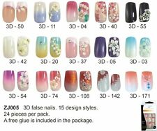 3D DESIGNER French Style Acrylic Nail Art Tip 24-pieces per box BUY2 GET 1 FREE