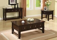 Rectangular Living Room Console Coffee End Table Stand w/ Drawer Espresso Option