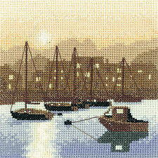 Heritage Crafts Harbour Lights Silhouette Counted Cross Stitch Kit