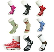 Mens Socks Silly Converse Novelty Sneakers Trainer Cotton Size 5-11 Joke Fun