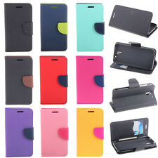 Deluxe Wallet Leather Flip + Tpu Case Cover For Samsung Galaxy Core II 2 G355H