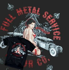 Full Metal Hot Rod T-Shirt Rat Ford Sexy Tattoo Chevy V8 USA Route 66 Gr.S-XL