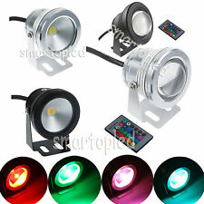 LED Underwater Spot Light 10W RGB 12V 800-900LM Warm Cool Garden Pool Pond Lamp