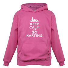Keep Calm and Go Karting - Kids / Childrens Hoodie -  Go Kart - GoKarting