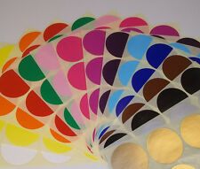 Stickers 38mm 45mm Round Colour Code Dots Blank Price Coloured Sticky Labels