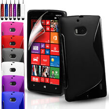 S-Line Silicone Gel Case Cover For Various Mobile Phones & FREE Screen Protector