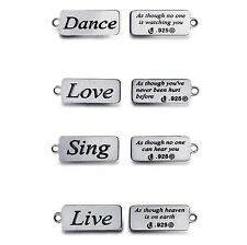 Sterling Silver Word Charms Quote Charms Inspirational Word Charms Made in USA